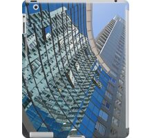 Modern blue glass wall of skyscraper in Buenos Aires, Argentina iPad Case/Skin
