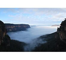 Blue Mountains Misty Saturday Photographic Print