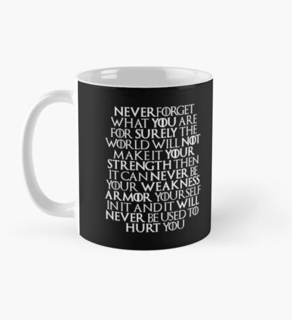 Never Forget Who You Are - Tyrion Lannister Quote Mug