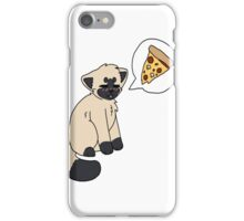 Siamese pizzacat iPhone Case/Skin
