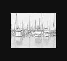 Manly Harbour, Pencil Sketch / HDR Unisex T-Shirt