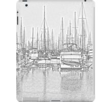 Manly Harbour, Pencil Sketch / HDR iPad Case/Skin