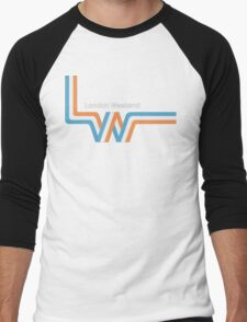 "Retro LWT ""ribbon"" television logo  Men's Baseball ¾ T-Shirt"