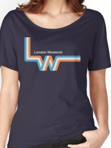 """Retro LWT """"ribbon"""" television logo  Women's Relaxed Fit T-Shirt"""