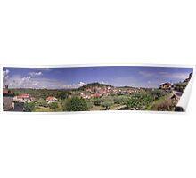 Panorama - Vale das Fontes, as seen from Rua dos Enxertos Poster