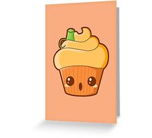 Spooky Cupcake - Pumpkin Greeting Card