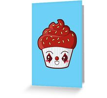 Spooky Cupcake - Killer Clown Greeting Card