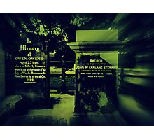 Two very old Gravestones Photographic Print