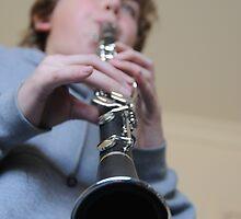 Seb Playing the Clarinet by Joseph Bailouni