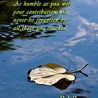 Fallen leaf condolence card by flexigav