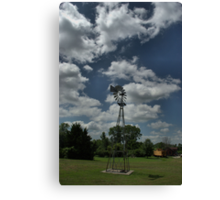 Old Time Kansas Water Wind Mill Pump Canvas Print