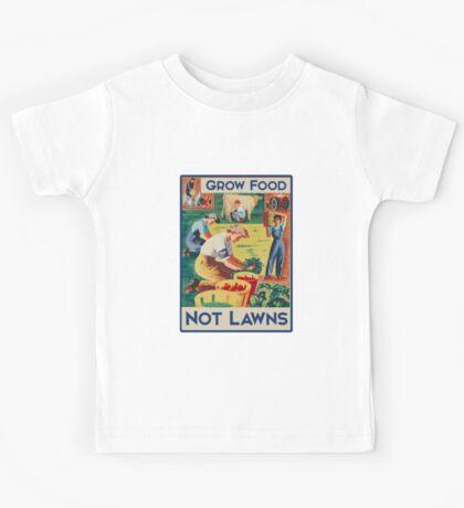 Grow food not lawns  Kids Tee