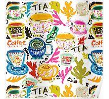 Tea & Coffee by Karen Fields Poster