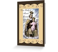 Story of Brown Scapular Greeting Card