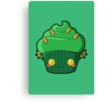 Spooky Cupcake - Swamp Thing Canvas Print