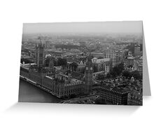 Big Ben Through the Fog Greeting Card