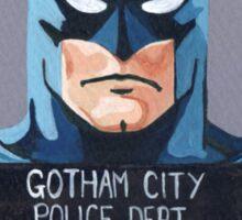 Batman Mugshot Sticker