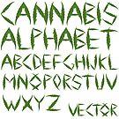 Cannabis leaf alphabet by Laschon Robert Paul