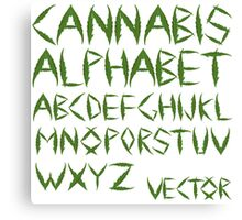 Cannabis leaf alphabet Canvas Print