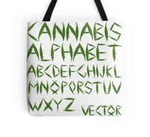 Cannabis leaf alphabet Tote Bag