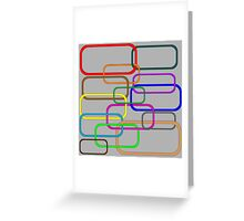 Chain in colors Greeting Card
