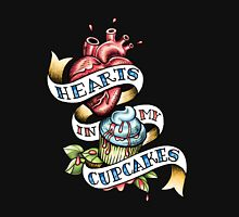 Hearts In My Cupcakes Unisex T-Shirt