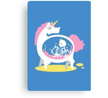 The Truth About Unicorns [Blue] Canvas Print