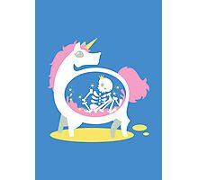 The Truth About Unicorns [Blue] Photographic Print