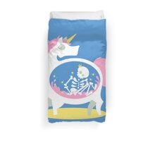 The Truth About Unicorns [Blue] Duvet Cover