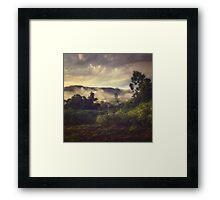 Sunrise Overflow Framed Print