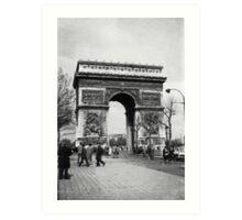 Arc de Triomphe - Paris 1960 Art Print