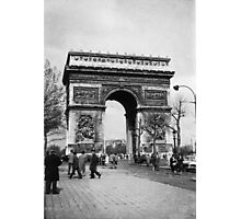 Arc de Triomphe - Paris 1960 Photographic Print