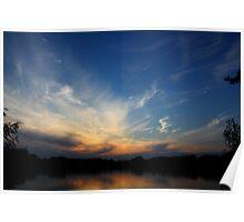 Sunset Over Biker's Farm Poster