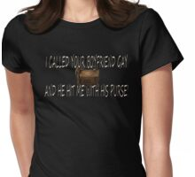 Hit Me With His Purse Womens Fitted T-Shirt
