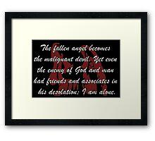 The Fallen Angel Frankenstein Framed Print