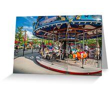 Carousel Columbus Commons Greeting Card