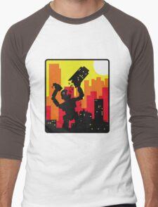 Robot destroy Men's Baseball ¾ T-Shirt