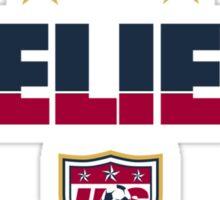 I Believe USA Women's Soccer Team Shirt Sticker