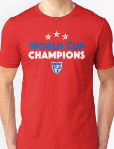 World Cup Champions USA Women's Soccer Team Blue T-Shirt
