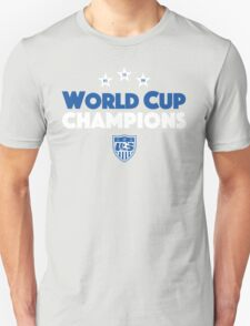 World Cup Champions USA Women's Soccer Team Blue T-Shirt