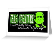 Team Creature! Greeting Card