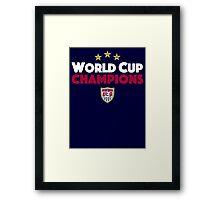 World Cup Champions USA Women's Soccer Team Framed Print