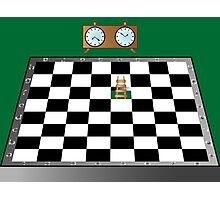 Chess, ladder and clock Photographic Print
