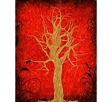 Abstract Tree Oil Painting Photographic Print