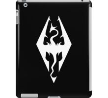 Skyrim Logo White iPad Case/Skin