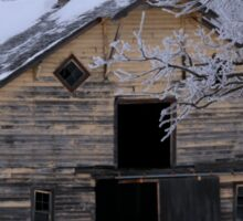 Rural Winter Barn Sticker