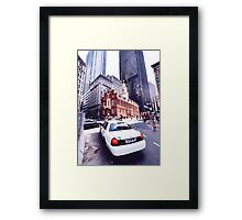 boston cab Framed Print