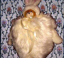 Small Bear in Big Bunny by cuteandcreepy