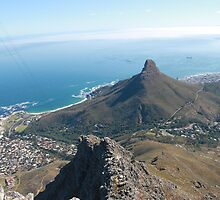 View from top of table mountain by jozi1