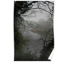 Fog over River Wye Poster